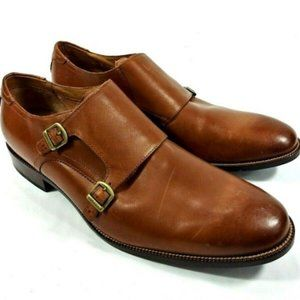 Cole Haan Benton Double Monk Strap Leather Loafer